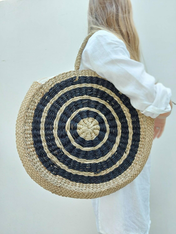 Big handmade water hyacinth bag