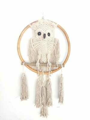 Macrame dreamcatcher owl - BURUNG