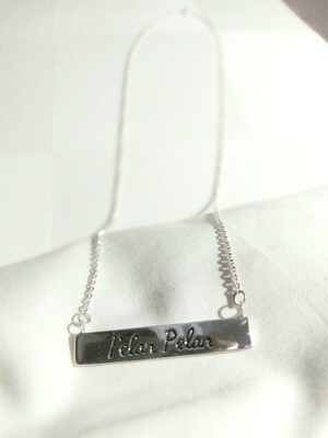 Silver Pelan Pelan necklace
