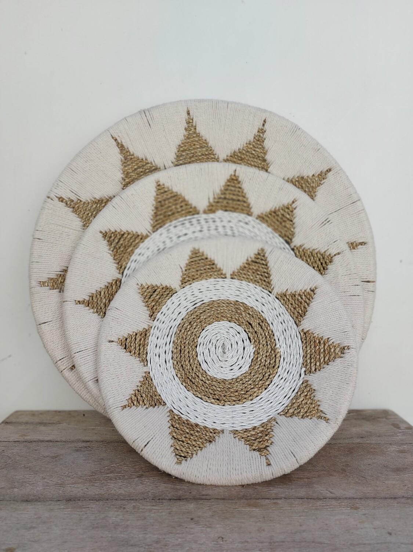 Handmade waterhyacint wall decor (per stuk)