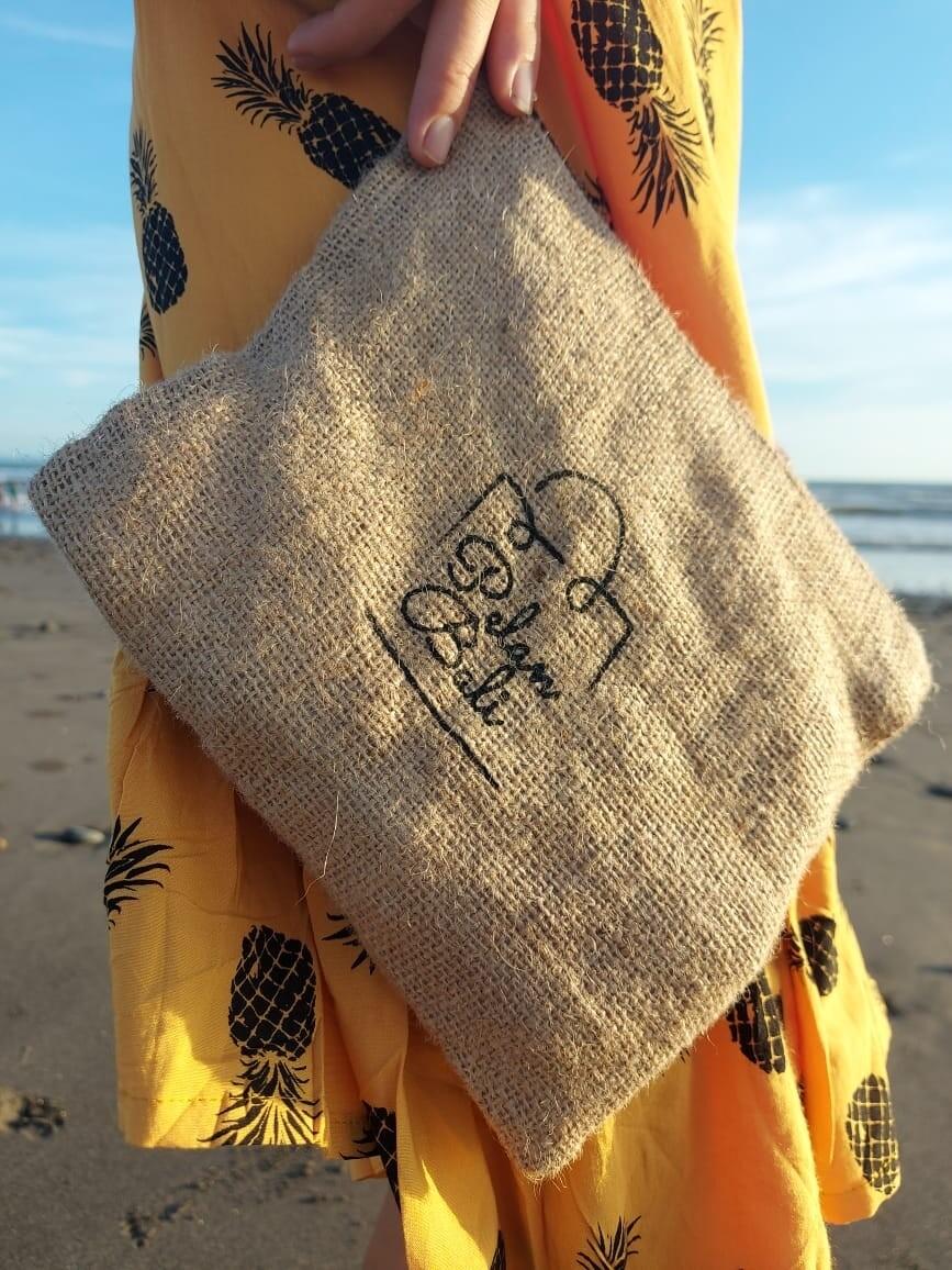 Handmade jute wallet