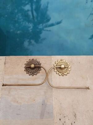 Brass toilet roll holder