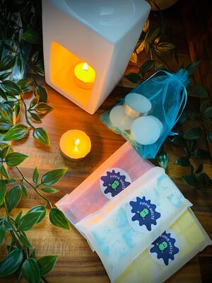White Cube Burner Gift Set