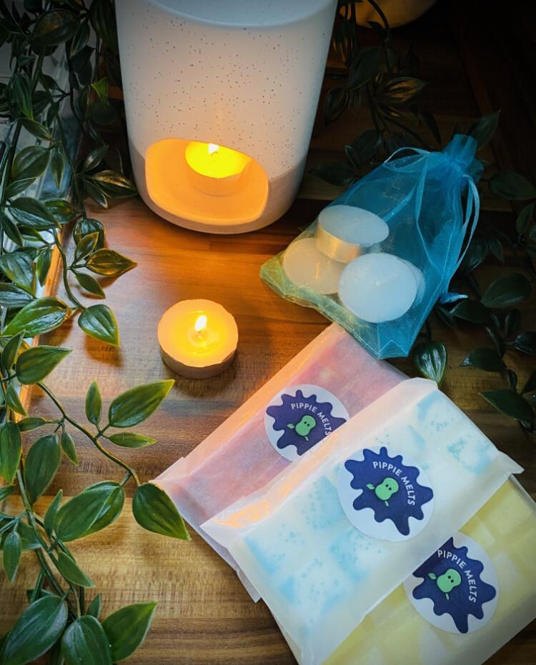 Grey & Cream Pot Burner - Gift Set