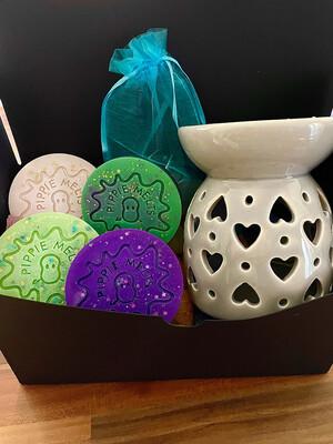 Grey Heart Burner- Gift Set