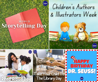 Holiday Social Media Graphics - Children's Book