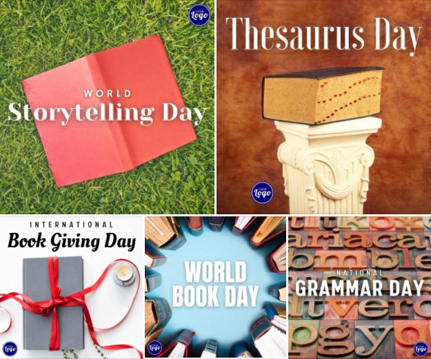 Holiday Social Media Graphics - Writer's Edition
