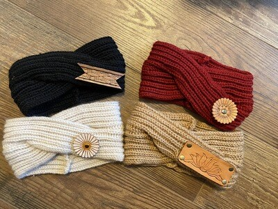 Headband With Leather Patch