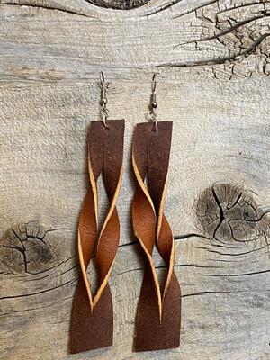 Long Two Tone Earrings