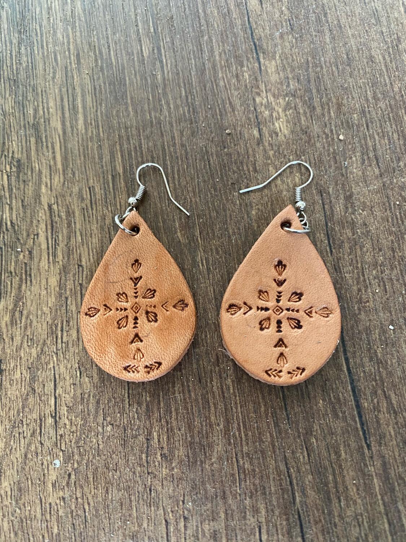 Teardrop Stamped Earrings