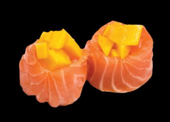 Tulipe Saumon et tartare de mangue (3pcs)
