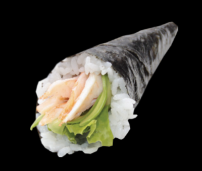 Temaki Crevette avocat (1pc)