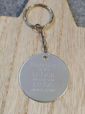 Schlüsselanhänger Rund inkl. Gravur