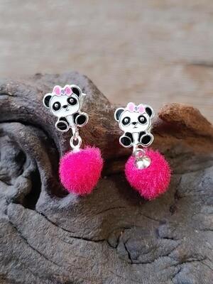Ohrstecker Panda mit Bommel