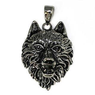 Kettenanhänger Wolfskopf