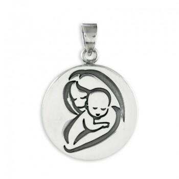 Kettenanhänger Mutter mit Kind