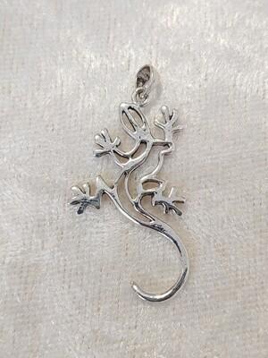 Silberanhänger Gecko
