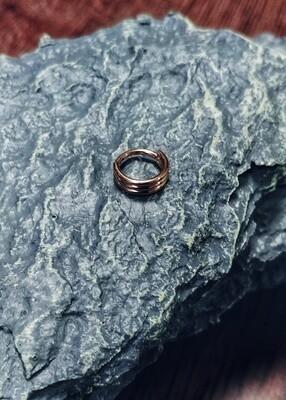 Clicker Segmentring 3 Ringe Rosegold