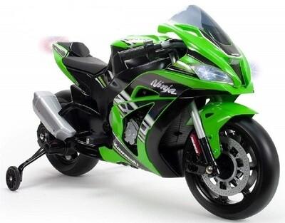 GP Kawasaki Ninja 111 cm 12V Vert Moto électrique pour enfant