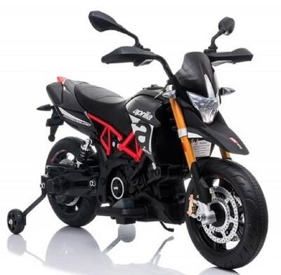 Aprilia Dorsoduro Noir argent 108 cm moto électrique pour enfants 40W 12V