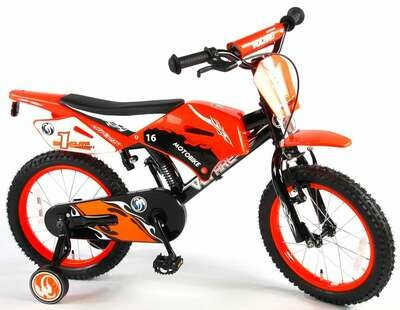 Moto cross Orange freins à rétropédalage Vélo garçon 16
