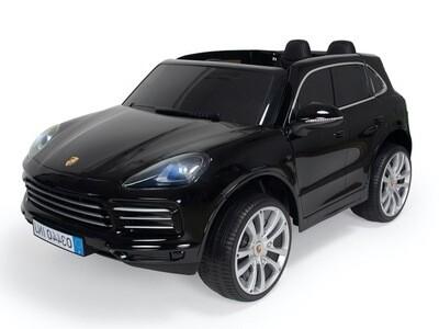 Porsche Cayenne 134 cm2 places noir cuir EVA Voiture électrique enfants 70W 12V
