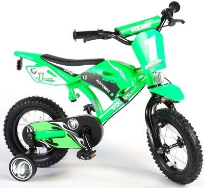 Moto cross vert 2 freins à main Vélo garçon 12