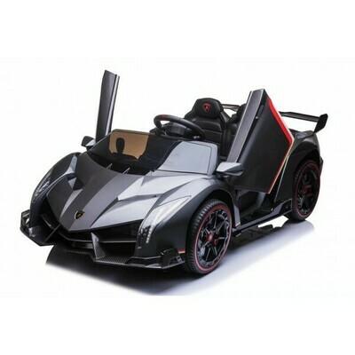 Lamborghini Veneno 2 places noir 139 cm 12V voiture électrique enfants 3-6 ans