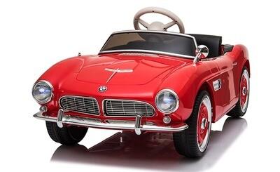 BMW 507 rouge 115 cm cuir EVA Voiture électrique enfants 12V 70W