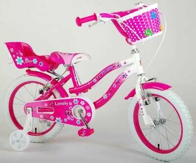 Lovely Blanc rose freins à pinces Vélo fille 16