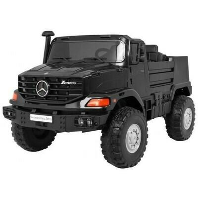 Zetros 2 places noir 120W 12V 137 cm cuir EVA camion électrique enfants