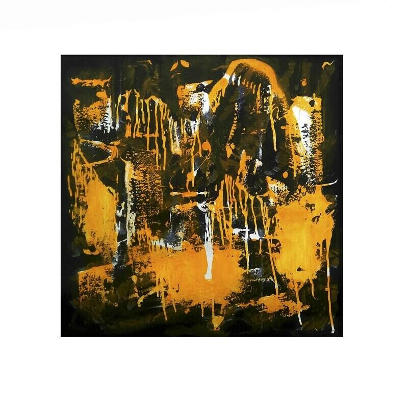 21 figuras en un paisaje amarillo