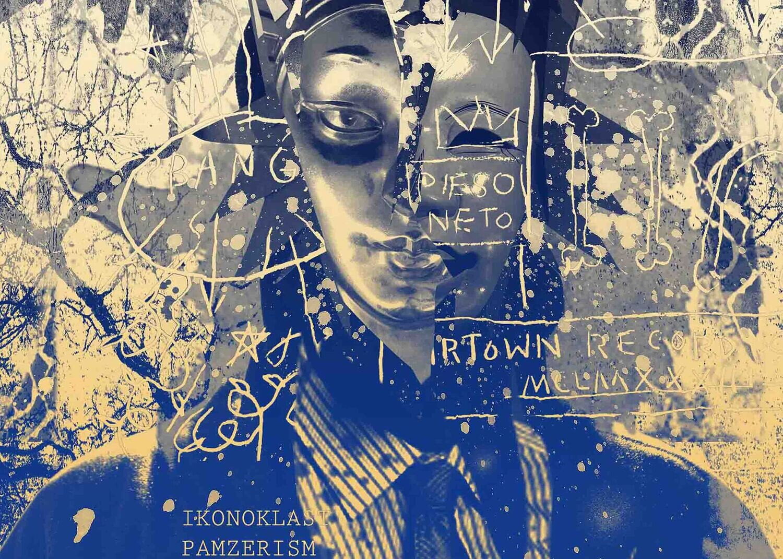 Mask of  Rammellzee and Jean-Michel Basquiat / 70 cm X 50 cm / Fine art print