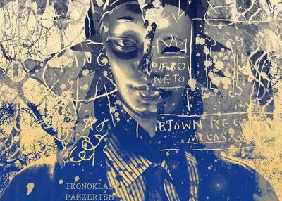 Mask of  Rammellzee and Jean-Michel Basquiat / 70 cm X 50 cm / Print