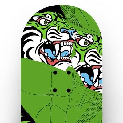 Tabla Skateboard Personalizada / Greek Tiger Double Head / Digital printing