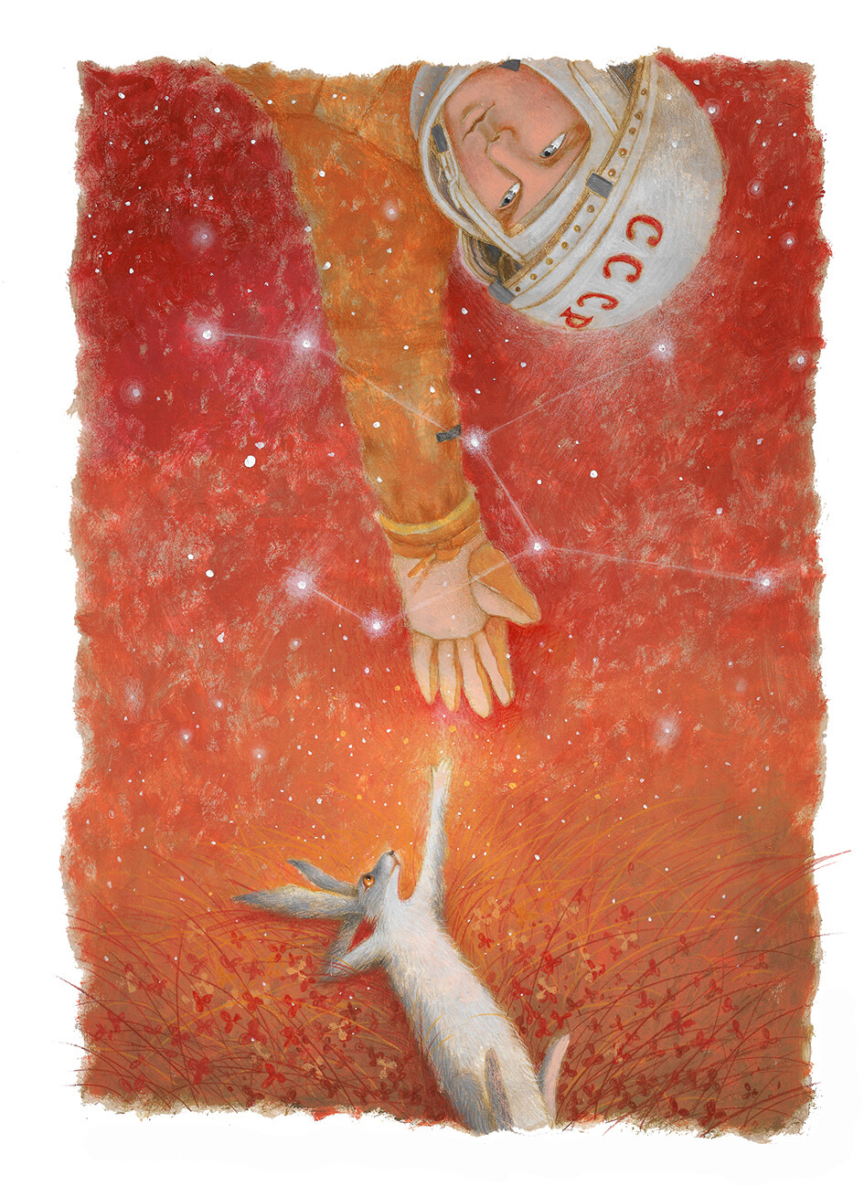 Cosmonaut and Hare