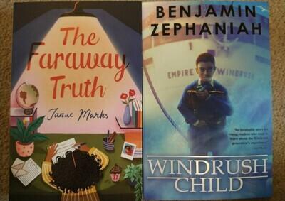 Faraway Truth by Janae Marks and Windrush child by Benjamin Zephaniah