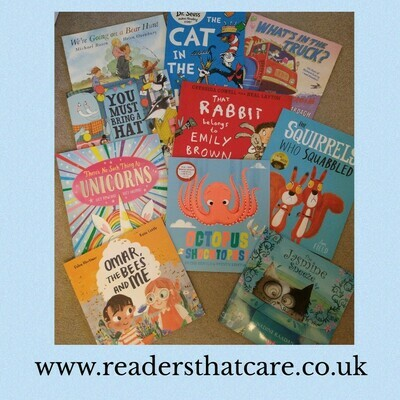 Three picture books for 4 to 7 years olds ( chose from selection) + free mystery book