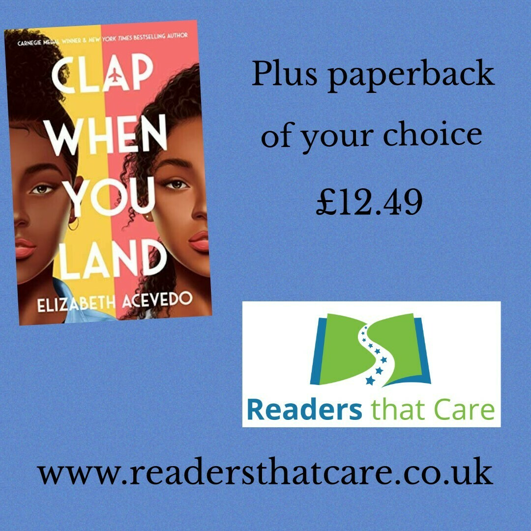 Clap When you Land by Elizabeth Acevedo + paperback book of you choice