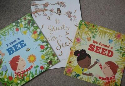 Spring stories book set (seeds, bees, growing)