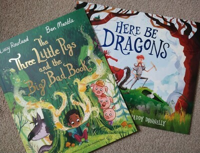 Two book bundle: The 3 Little Pigs and the Big Bad Wolf and Here be Dragons