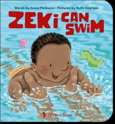 Zeki Can Swim by Anna McQuinn and Ruth Hearson