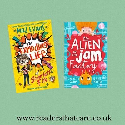 Two book deal: Alien Jam and Exploding Life of Scarlett Fife