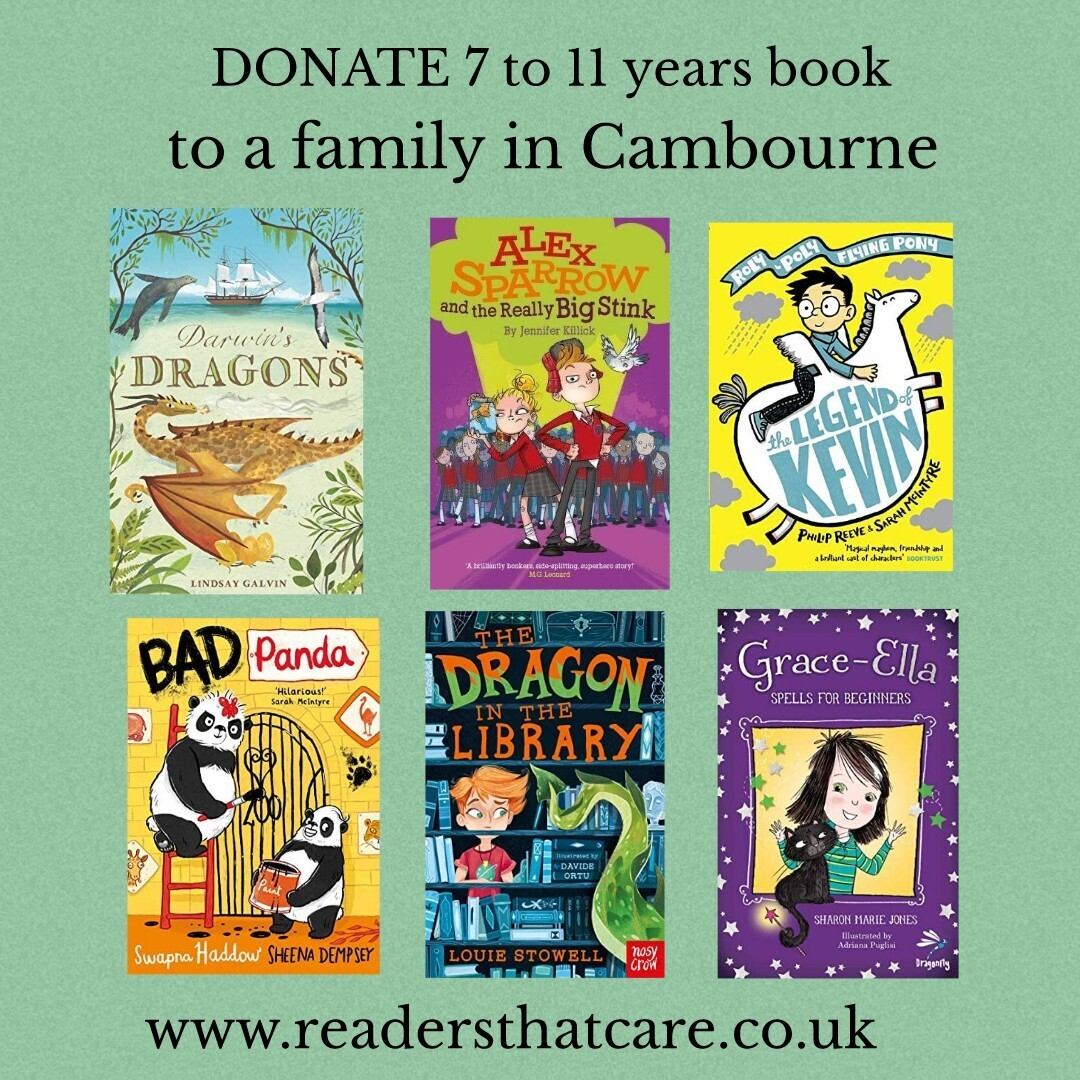 Donate a chapter book for a 7 to 11 year old in Cambourne. Cambs.