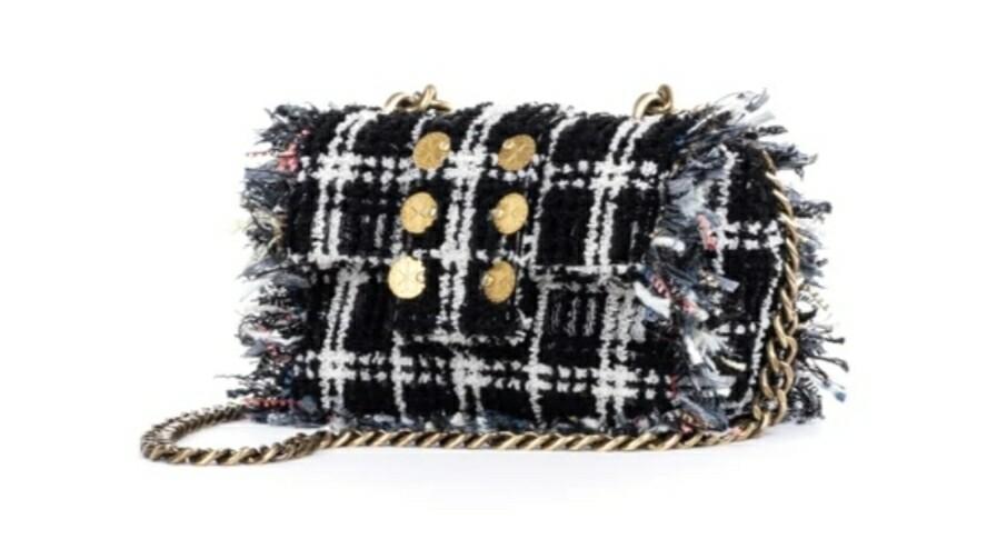 Sac Soho Pillow Black Tweed