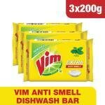 Vim Extra Anti Smell Pudina Dishwash Bar 200 g (Pack of 3)