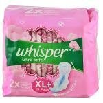 Whisper Ultra Soft Sanitary Napkin with Wings (XL+) 15 pads