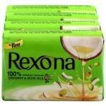 Rexona Coconut & Olive Oil Soap 100 g (Pack of 4)