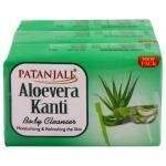 Patanjali Aloe Vera Kanti Body Cleanser 150 g (Pack of 3)