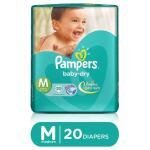 Pampers Baby Dry Diapers (M) 20 count (6 - 11 kg)